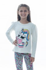 Remera Unicornio manga larga Kids